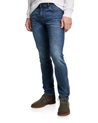 7 For All Mankind Paxtyn In Authentic Runaway Skinny Denim Jeans Blue