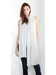 Johnstons Of Elgin Cashmere Gauzy Stole White