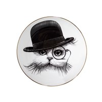 Rory Dobner Perfect Plates Cat In Tilted Hat Medium