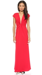 Jill Jill Stuart Twist Front Maxi Dress Scarlet