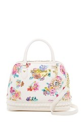 Betsey Johnson Pleated Medium Dome Satchel White