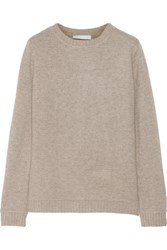 Kain Label Chapin Ribbed Wool And Cashmere Blend Sweater Taupe