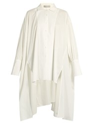 Palmer Harding Poet Batwing Sleeved Cotton Shirt White