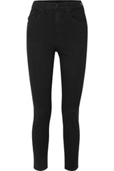 Mother The Diamond Swooner High Rise Skinny Jeans Black