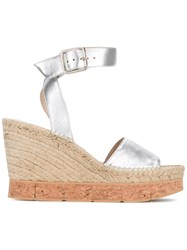 Paloma Barcelo Wedge Sandals Metallic