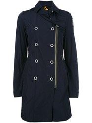 Parajumpers Dislocated Zip Trenchcoat Blue