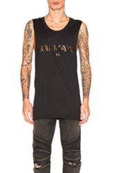 Balmain Sleeveless Logo Tee In Black
