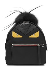 Fendi Backpack With Fox Fur Black