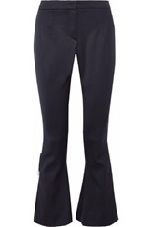 Mother Of Pearl Faux Embellished Cady Flared Pants Navy