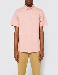 Obey Keble Ii Woven Ss Shirt In Rose