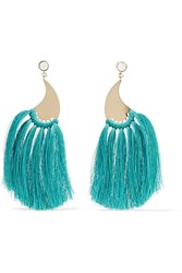 Etro Gold Tone Tassel Earrings One Size
