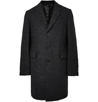 Paul Smith Wool Blend Boucle Overcoat Blue