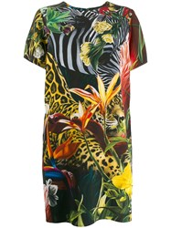 Roberto Cavalli Paradise Found Print Dress Green