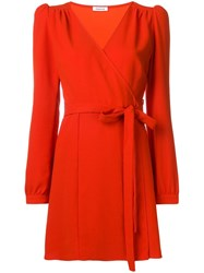 P.A.R.O.S.H. Wrapped Front Dress Red