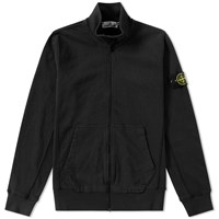 Stone Island Garment Washed Track Jacket Black