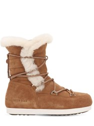 Moon Boot Far Side High Shearling Boots Whiskey