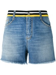 Ermanno Scervino Embellished Back Shorts Blue