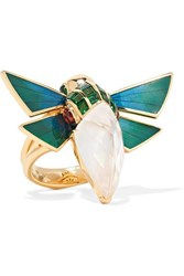 Stephen Webster Cuckoo Bee 18 Karat Gold Multi Stone Ring