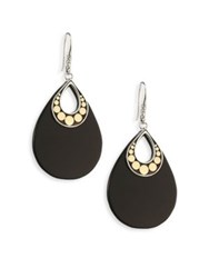 John Hardy Dot Black Onyx And 18K Yellow Gold Drop Earrings