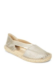Kenneth Cole Reaction How Nol Espadrilles Flats Silver