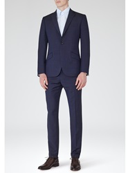 Reiss Silvers Modern Fit Wool And Mohair Suit Navy
