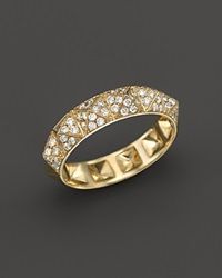 Bloomingdale's Diamond Pyramid Stud Band Ring In 14K Yellow Gold .50 Ct. T.W.