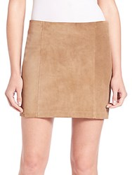 Ralph Lauren Suede Mini Skirt Brown