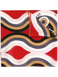 Fendi Patterned Scarf Red