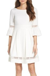Eliza J Women's Bell Sleeve Dress Ivory