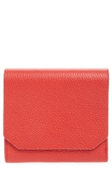 Nordstrom Leather Trifold Wallet Red Red Chinoise