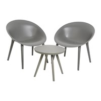 Amara Outdoor Coffee Table And Chair Set Anthracite
