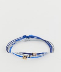 Icon Brand Blue Stacking Bracelets In 3 Pack