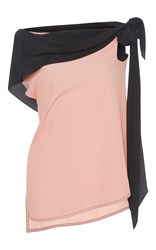 Marni Off The Shoulder Top With Tie Pink