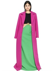 Fausto Puglisi Double Crepe Long Coat