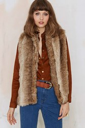 Nasty Gal Wild Thang Faux Fur Vest