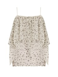 Racil Lilly Off The Shoulder Ruffled Tulle Top White Multi