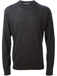 Dolce And Gabbana Polka Dot Print Sweater