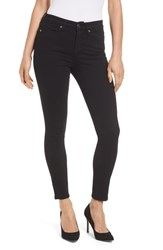 Good American Plus Size Legs High Rise Crop Skinny Jeans Black 001