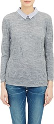 Boy By Band Of Outsiders Shirting Collar Top Grey Size 0 0 Us