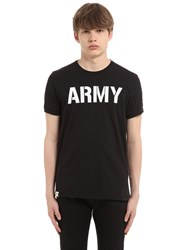 Alpha Industries Printed Cotton Jersey T Shirt