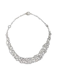 Saqqara 18Kt White Gold And Diamond Necklace Metallic
