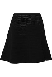 Theory Rortie Stretch Open Knit Mini Skirt Black