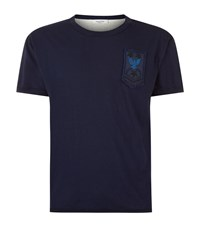 Valentino Army Patch T Shirt Male Navy