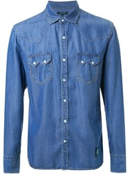 Guild Prime Snap Button Denim Shirt Blue