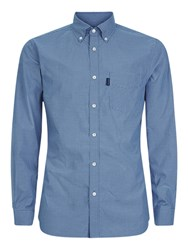 Aquascutum London Orville Micro Check Shirt Blue