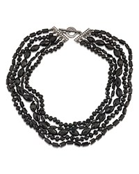 Carolee Multi Strand Necklace 16.5 Hematite