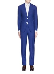 Isaia 'Gregory' Check Plaid Wool Suit Blue