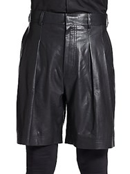 Givenchy Leather Shorts Black