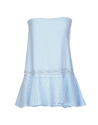 Pinko Black Tube Tops Sky Blue