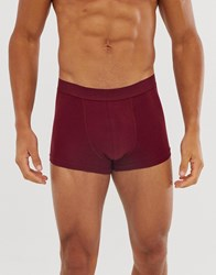 Weekday Dylan Trunks In Burgundy Red